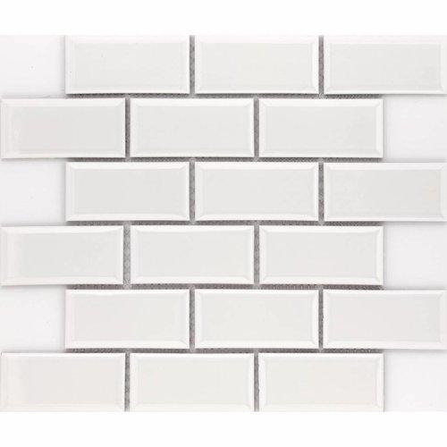 Vloer Mozaiek Jos Strucco Plaster Brick  29x34 cm Blanco Mat (doosinhoud 0.98 m2)