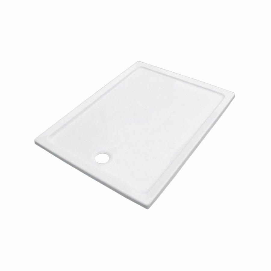 Douchebak VM Go Eden 100x80x3.5cm Acryl Rechthoek Exclusief Potenset