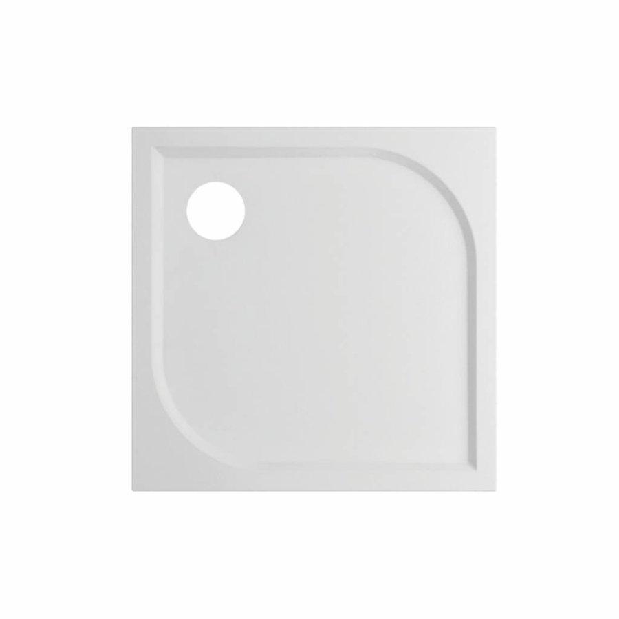 Douchebak VM Go Argon 80x80x3cm Polybeton Vierkant Wit Sanitair Coating