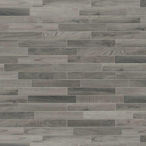 Vloertegel Jos Strucco Plaster Wood 6.5x40 cm Silver (doosinhoud 0.83 m2)