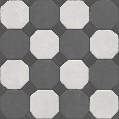 Vloertegel Jos Strucco Plaster Decor 80x80 cm Gris Prijs P/m2