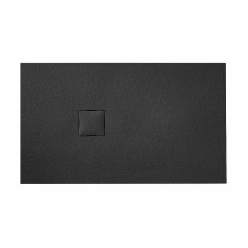 Douchebak VM Go Krypton 140x90x3cm Polybeton Rechthoek Graniet