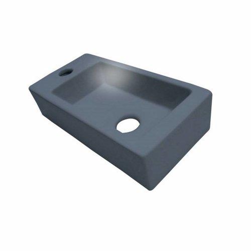 Fontein Best Design Mini-block 36x18 cm Antraciet Grijs (kraangat links)