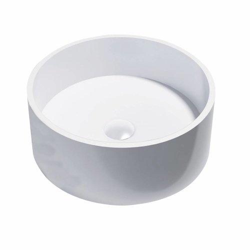 Opbouw Waskom Best Design Just Solid Surface Knock 40 cm Mat Wit