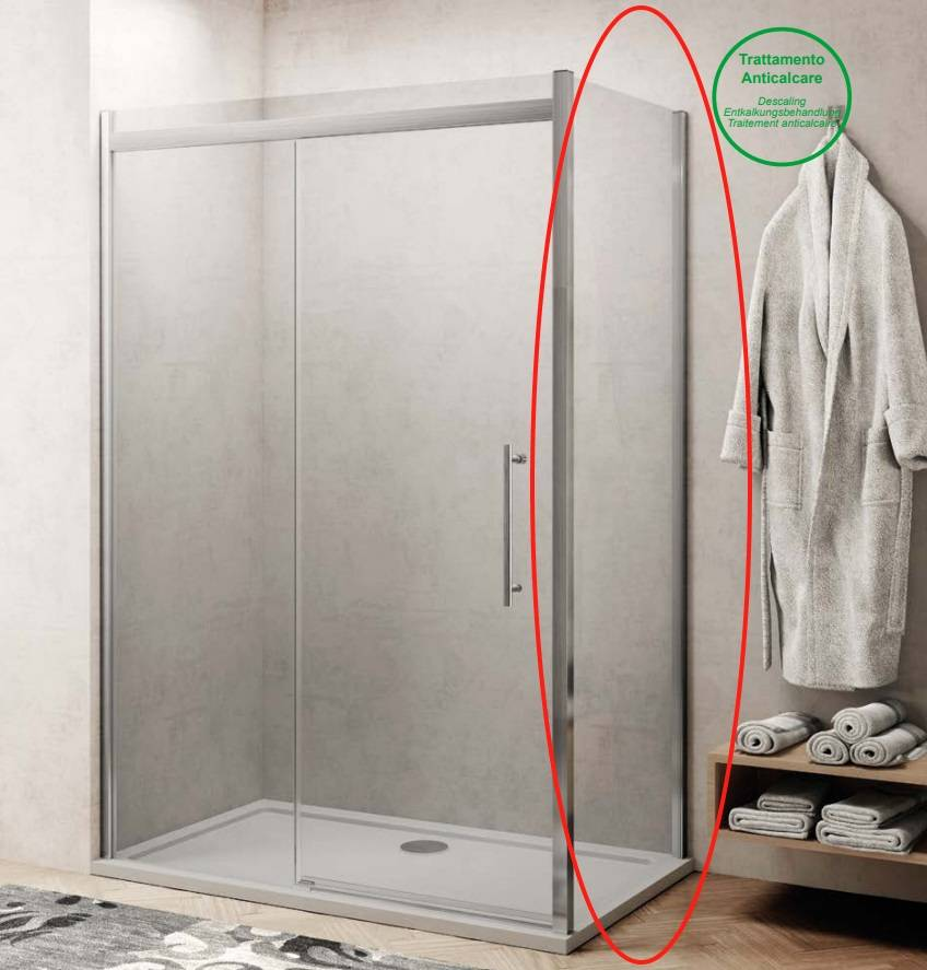Zijwand voor Douchecabine Lacus Procida 100x210 cm 8 mm Nano Glas