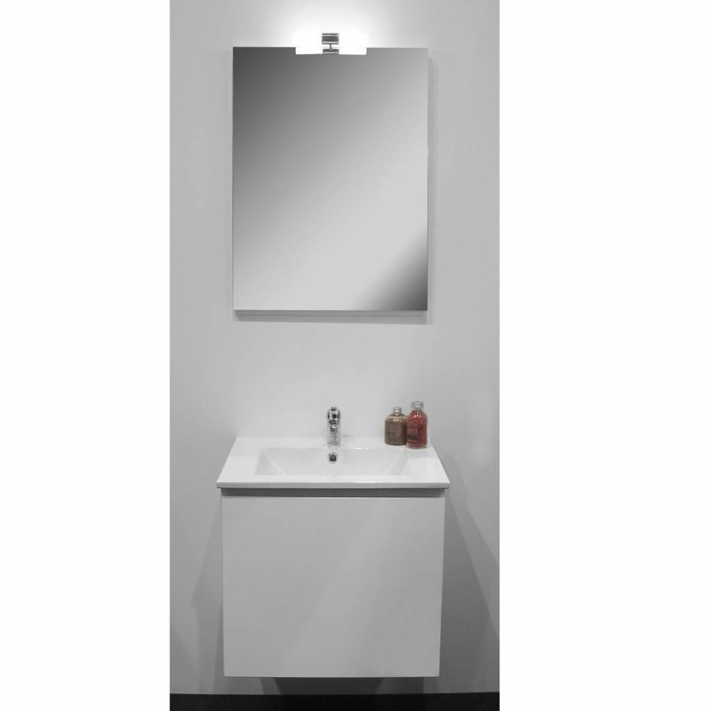 Badkamermeubelset Go By Van Marcke Joelle 60cm Compleet Met Spiegel Wit kopen met korting