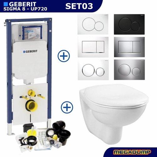 Sigma 8 (UP720) Toiletset 03 Megasplash Basic Smart Met Bril En Drukplaat