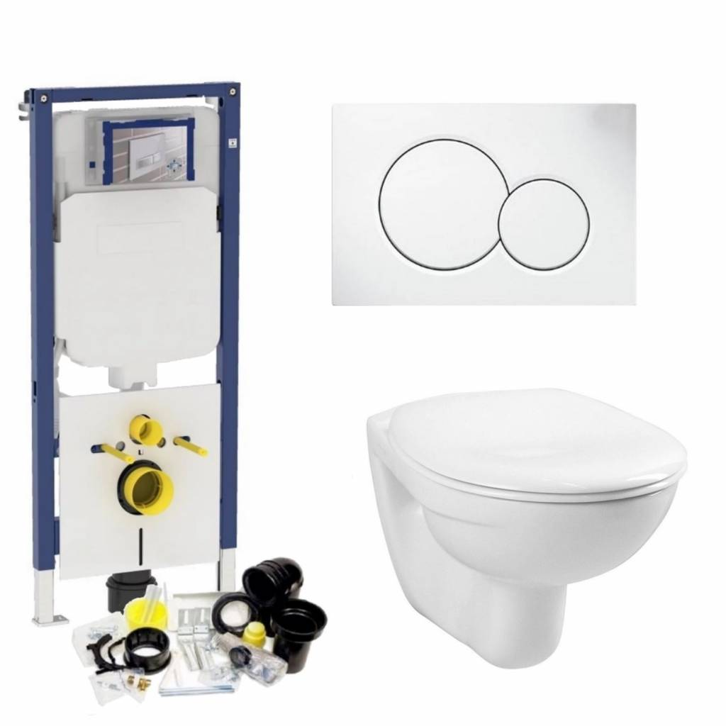 Sigma 8 (UP720) Toiletset 03 Megasplash Basic Smart Met Bril En Drukplaat