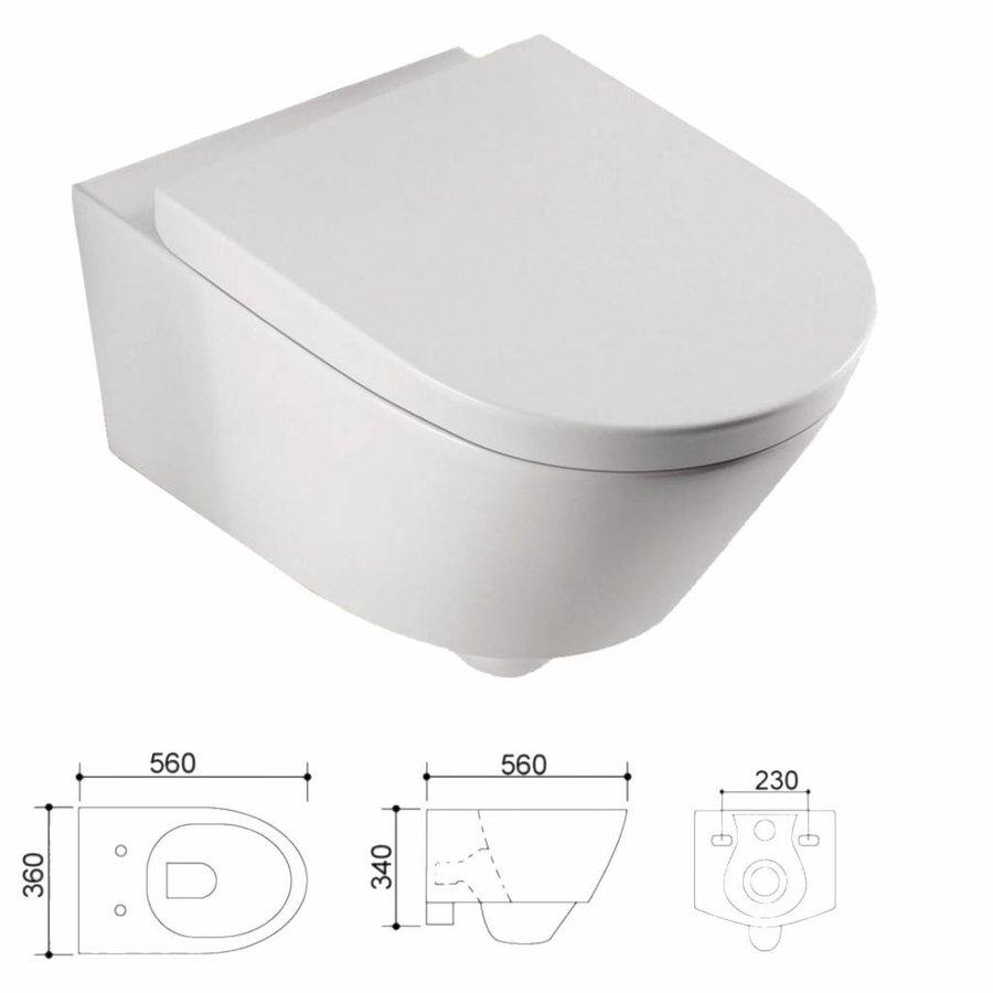 Sigma 8 (UP720) Toiletset 04 Aqua Splash Metro Met Bril En Drukplaat