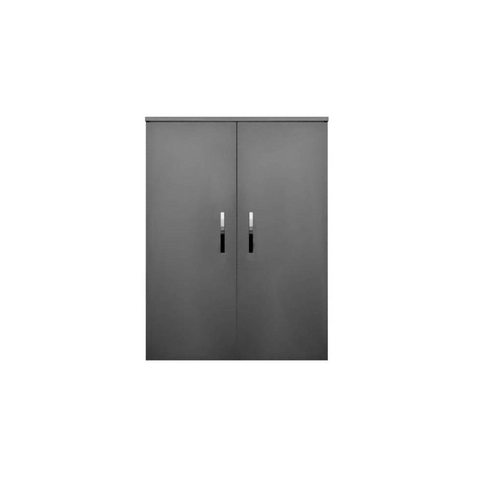 badkamer kolomkast Sanicare Q1/Q4/Q12 2-Deurs Soft-Closing Chromen Greep 90x67x32 cm Truffel Sanicare