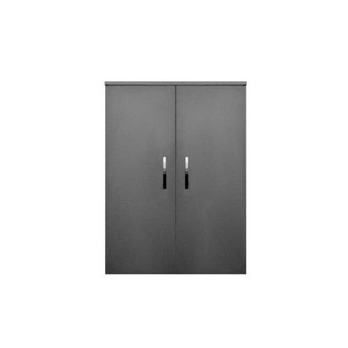 Kolomkast Sanicare Q1/Q12/Q17 2-Deurs Soft-Closing Chromen Greep 90x67x32 cm Antraciet