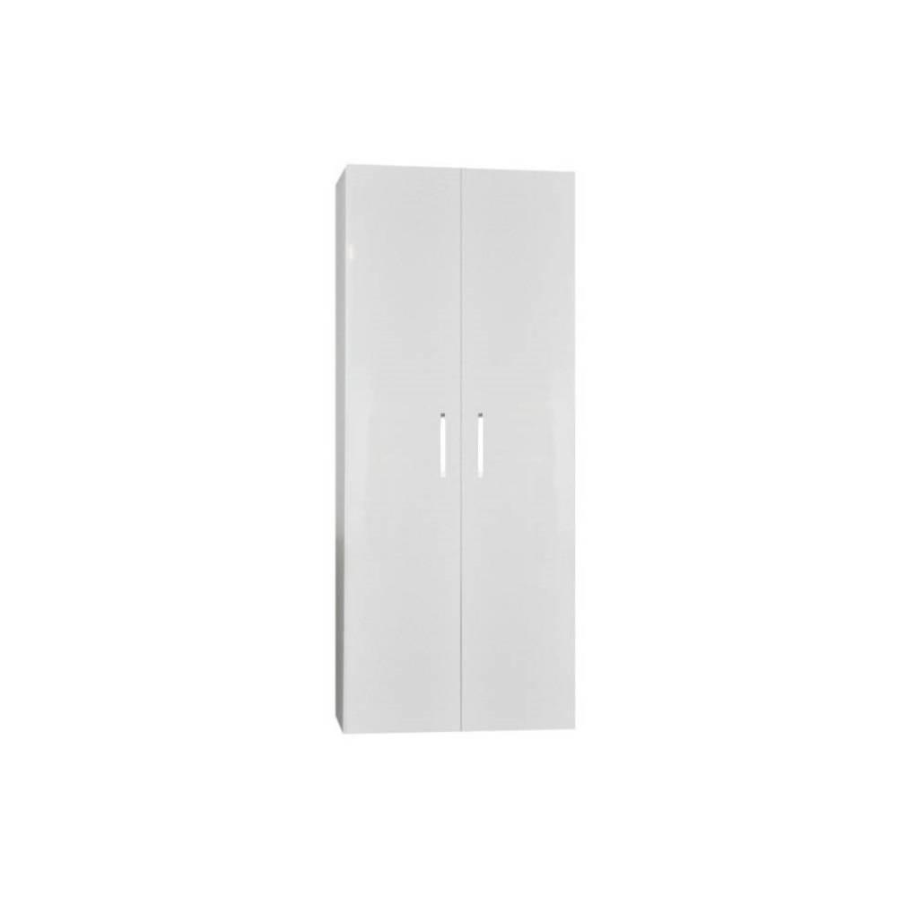 badkamer kolomkast Sanicare Q6/Q14 2-Deurs Soft-Closing Chromen Greep 160x67x32 cm Antraciet Sanicare