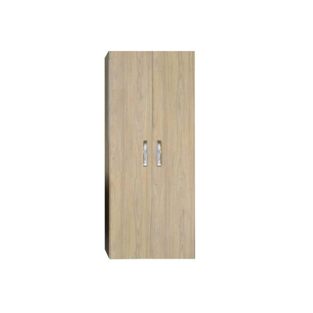 badkamer kolomkast Dubbel Sanicare Soft-Closing Deuren Chromen Greep 160x67x32 cm Grey-Wood Sanicare