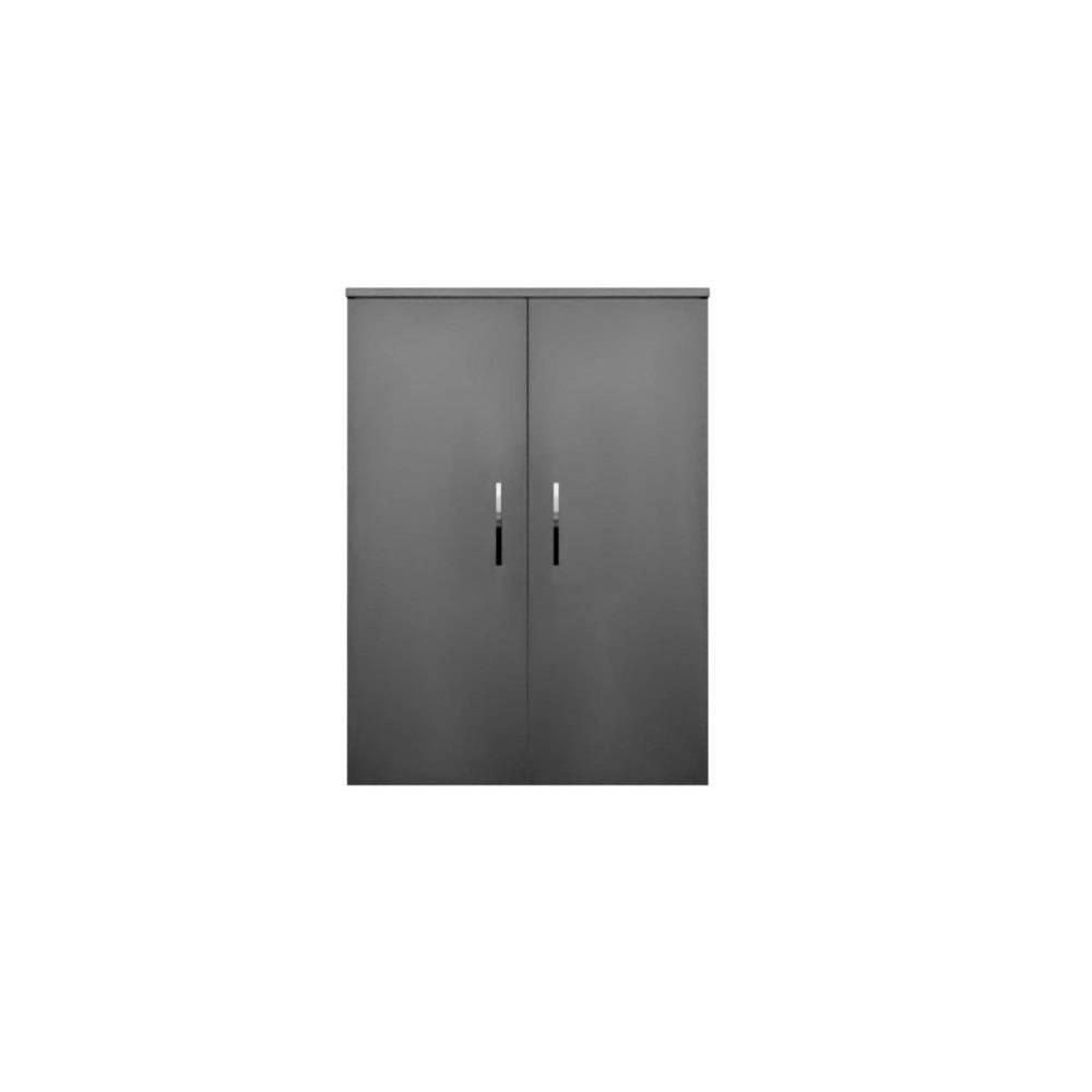 badkamer kolomkast Sanicare Q6/Q14 2-Deurs Soft-Closing Chromen Greep 90x67x32 cm Truffel Sanicare