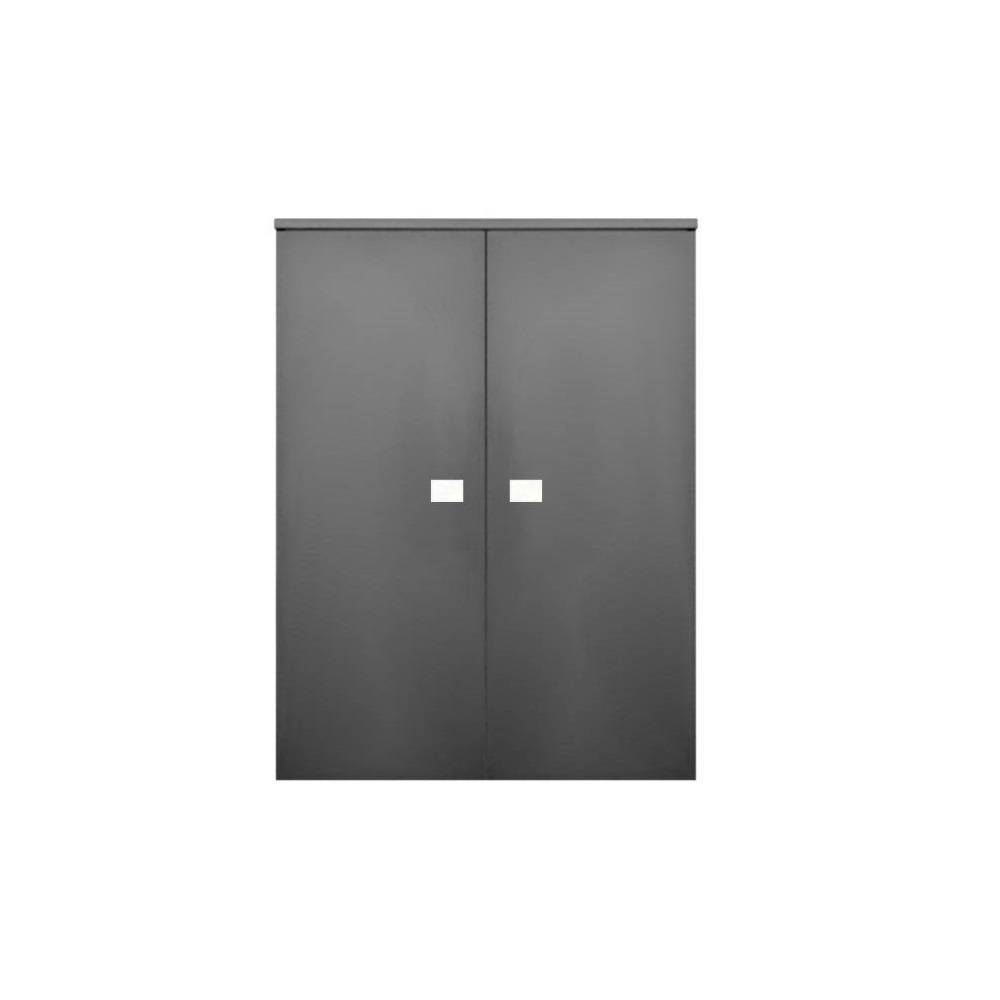 badkamer kolomkast Sanicare Q5 2 Soft-Close Deuren 90 cm Grey-Wood Sanicare