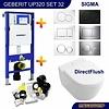 Geberit Up320 Toiletset 32 Villeroy & Boch Subway 2.0 Direct flush Met Bril En Drukplaat