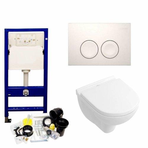 UP100 Toiletset 53 Villeroy & Boch O.Novo Compact Met Bril En Drukplaat
