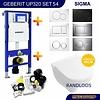 Geberit UP320 Toiletset 54 Villeroy & Boch O.Novo DirectFlush Compact Met Bril En Drukplaat