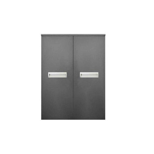 Kolomkast Sanicare Q2/Q3/Q8 2-Deurs Soft-Closing Alu Greep 90x67x32 cm Schots-Eiken
