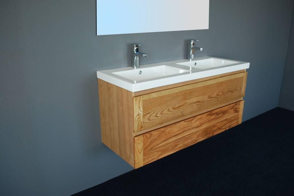 Badmeubel Wood Keramiek 120 Cm