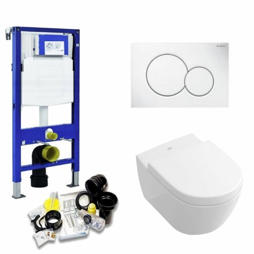 Up320 Toiletset 32 Villeroy & Boch Subway 2.0 Direct flush Met Bril En Drukplaat