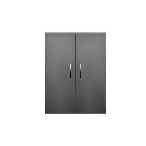 Kolomkast Sanicare Q6/Q14 2-Deurs Soft-Closing Chromen Greep 90x67x32 cm Schots-Eiken
