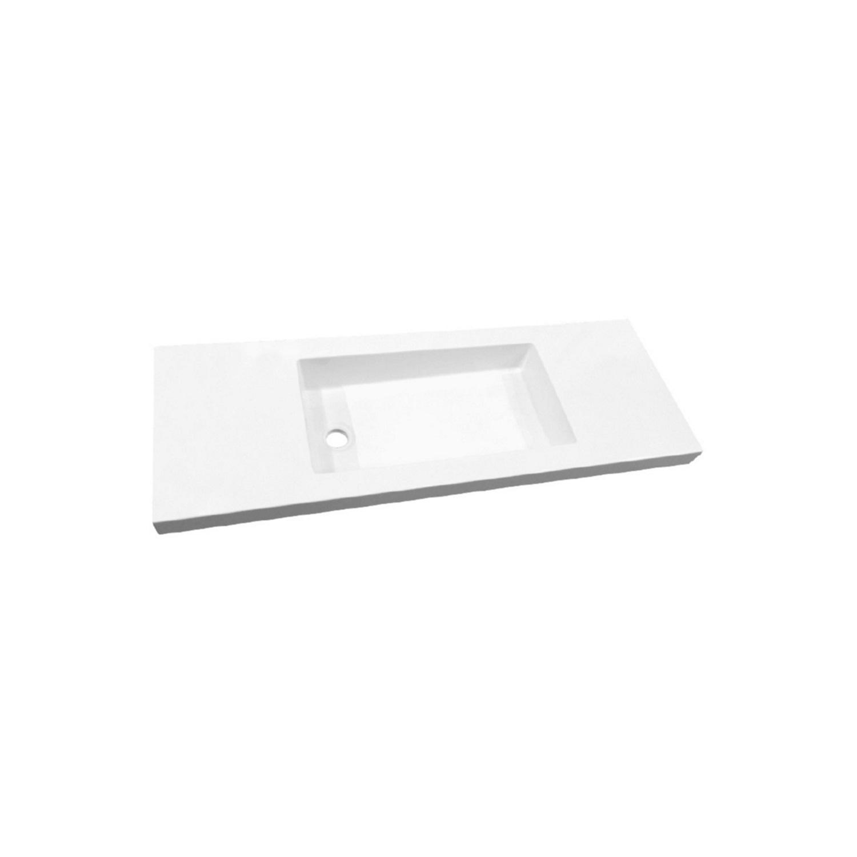 Wastafel Slim 80 cm Ondiep 35 cm Excl. Kraangat Glans Wit ADW Design