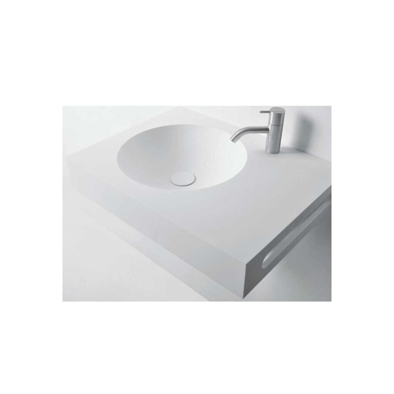 Wastafel Ideavit Solidnext 60x45x10 cm Inclusief Handdoekhouder Solid Surface Mat Wit kopen met korting