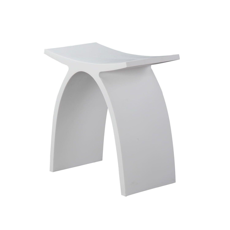 Krukje Luca Sanitair 42x23x43cm Solid Surface Mat Wit