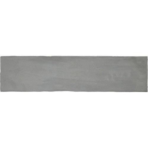 Wandtegel Colonial Grey Glans 7.5x30 cm Glans Grijs (doosinhoud 0.5 m2)