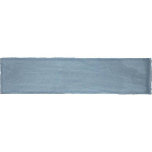 Wandtegel Colonial Sky Glans 7.5x30 cm Glans Licht Blauw (doosinhoud 0.5 m2)