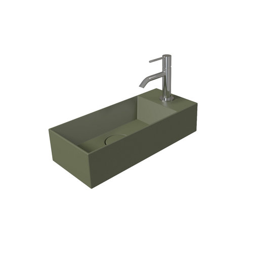 Fontein Salenzi Spy 45x20 cm Mat Groen (inclusief bijpassende clickwaste)