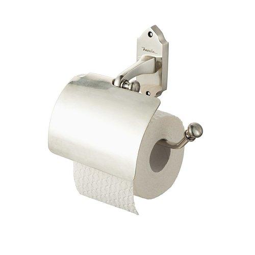 Toiletrolhouder Haceka Vintage met Klep Messing Zilver