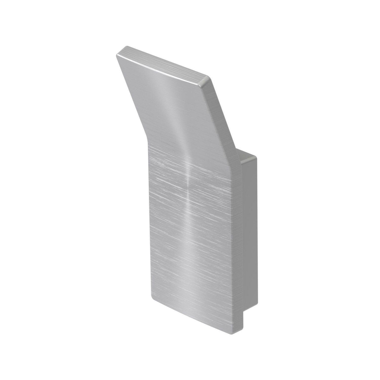 Handdoekhaak Haceka Aline Brushed 8,7x3,6 cm Aluminium Geborsteld Zilver