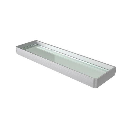 Planchet Haceka Aline Brushed 46x3,5 cm Aluminium Geborsteld Zilver