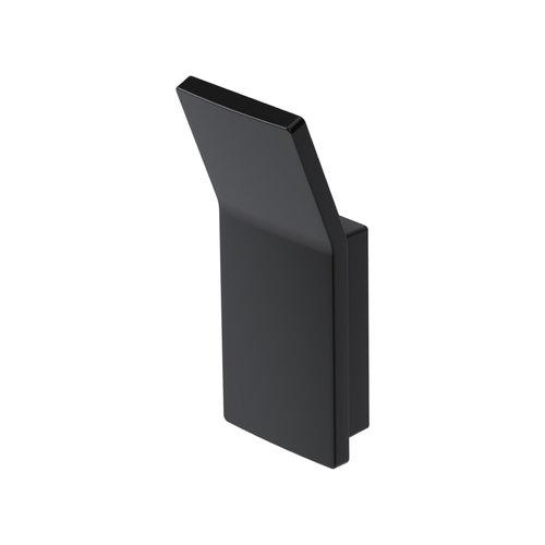 Handdoekhaak Haceka Aline Black 3,6x8,7 cm Aluminium Mat Zwart