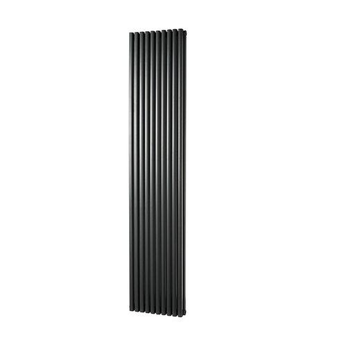 Designradiator Haceka Mojave Adoria 38x184 cm Antraciet 6-Punts Aansluiting (1377W)