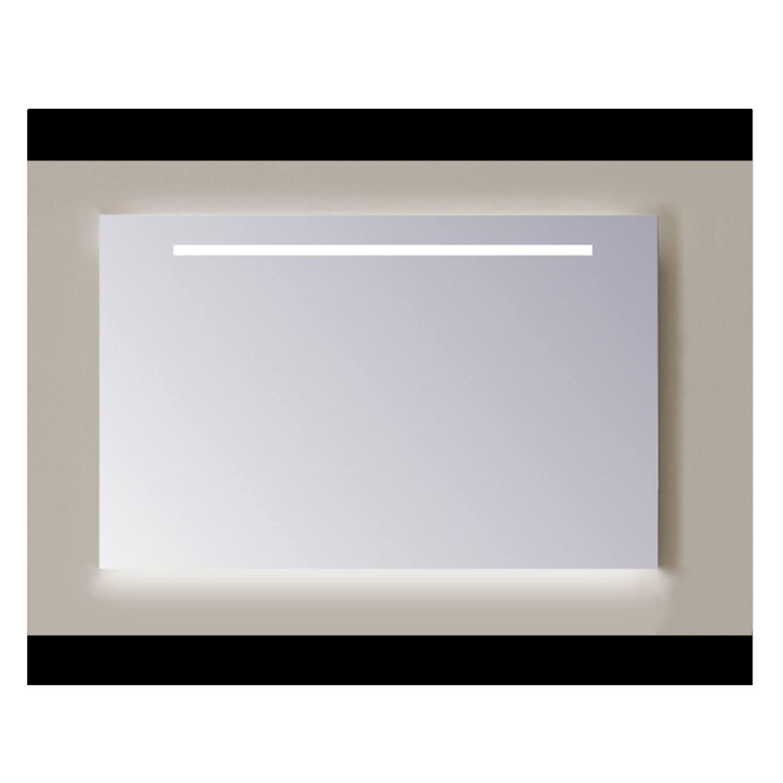 Spiegel Sanicare Q-mirrors 60 x 65 cm Warm White LED Ambi Licht Onder PP Geslepen Sanicare
