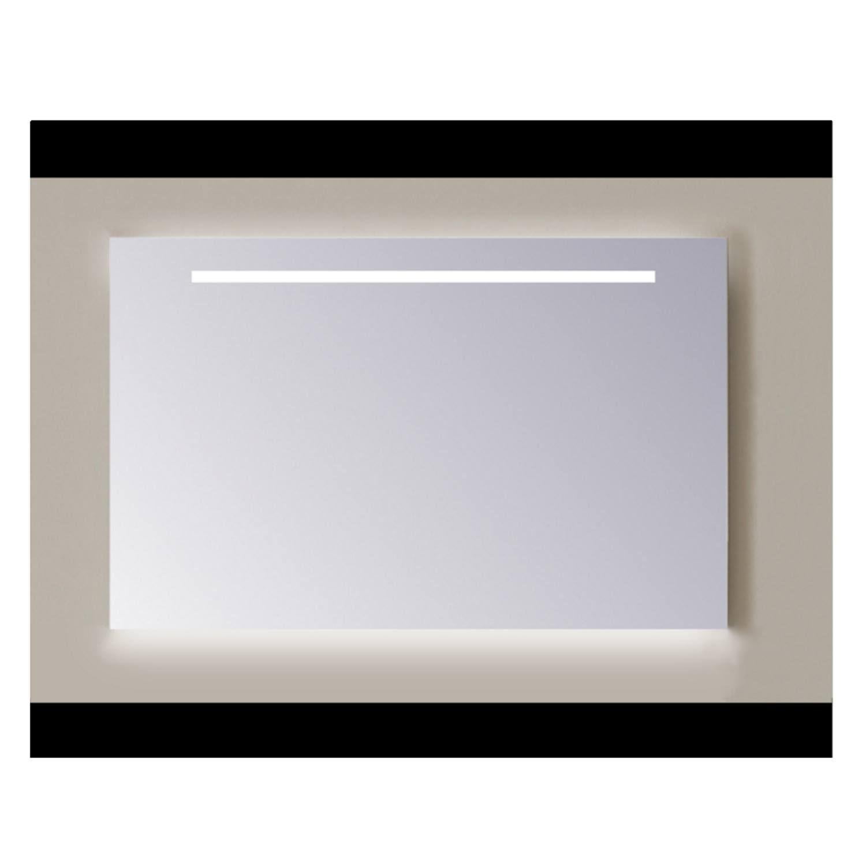Spiegel Sanicare Q-mirrors 60 x 70 cm Warm White LED Ambi Licht Onder PP Geslepen Sanicare