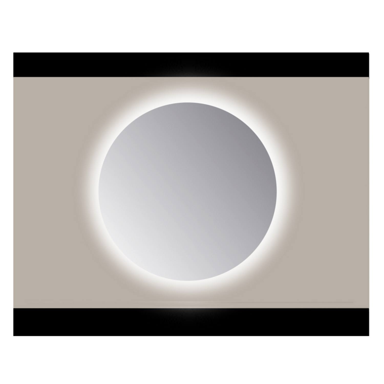 Spiegel Rond Sanicare Q 50 cm Ambi Warm White LED PP Geslepen (Zonder Sensor)