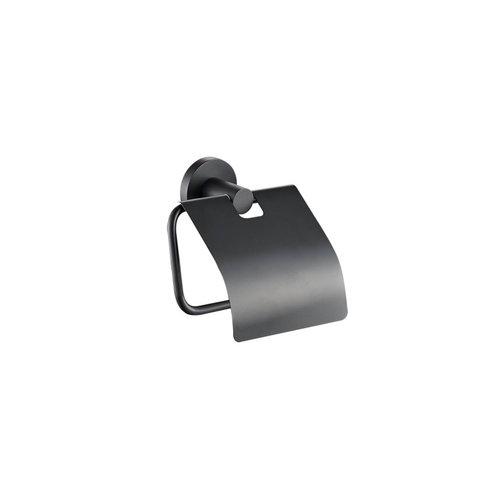 Toiletrolhouder Plieger Vigo met Klep Mat Zwart