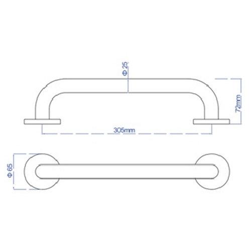 Badgreep Plieger Uni 30 cm RVS Brushed