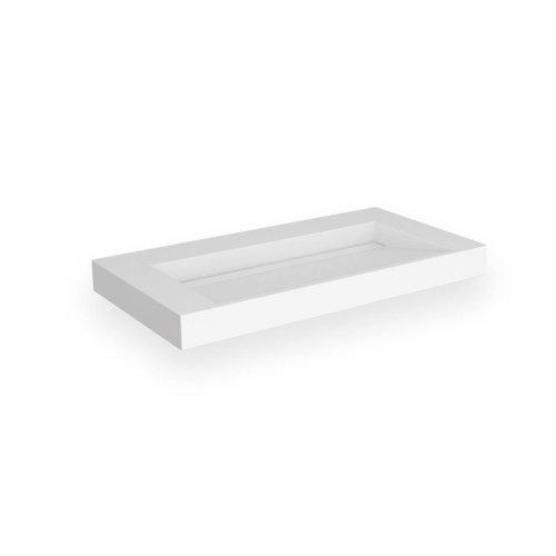 Opbouw Wastafel EH Design Stretto 605x455x80 mm Solid Surface Mat Wit