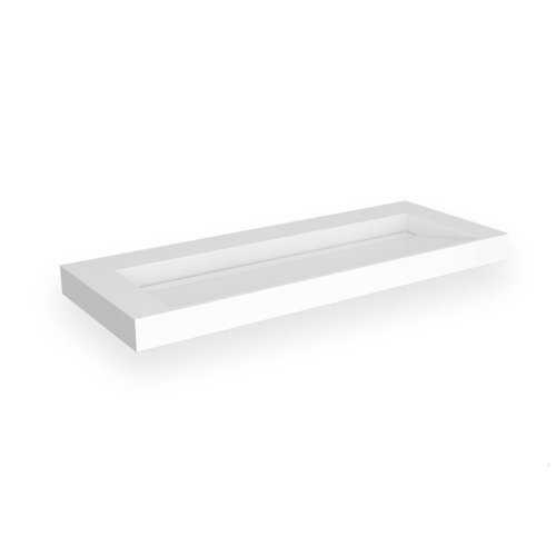 Opbouw Wastafel EH Design Stretto 1405x455x80 mm Solid Surface Mat Wit