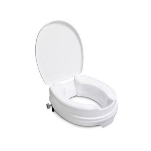 Toiletverhoger Handicare Linido met Deksel Universeel 10 cm Wit (draagvermogen tot 130 kg)