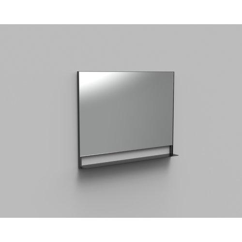 Badkamerspiegel met Planchet Boss & Wessing Reflect 100x80 cm Mat Zwart