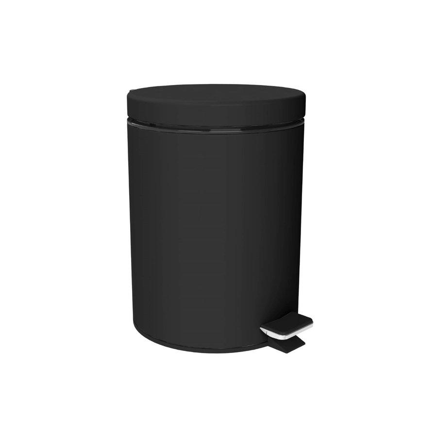 Afvalemmer Allibert Loft-Game Staand 3 Liter Gelakt Mat Zwart