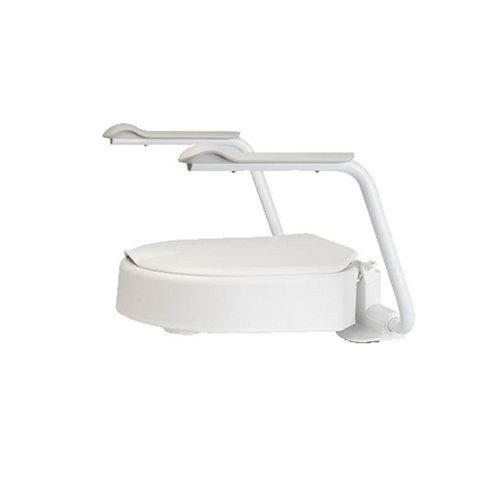 Toiletverhoger Etac Hi-Loo Vastgemonteerd met Armsteunen 10 cm Wit