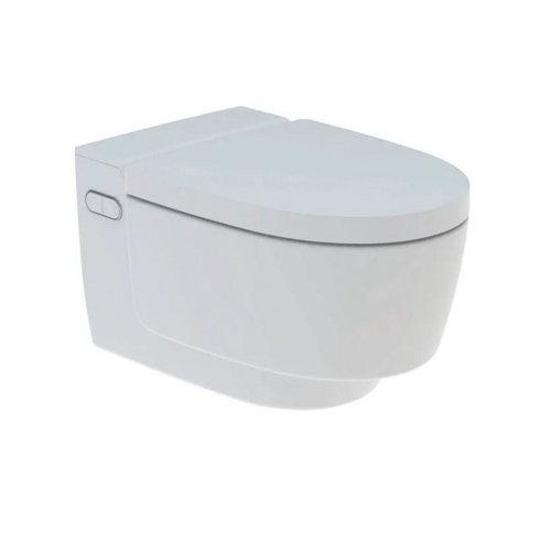 Douche WC Geberit AquaClean Mera Classic met Geurafzuiging Warme Luchtdroging en Ladydouche met Softclose en Deksel Wit