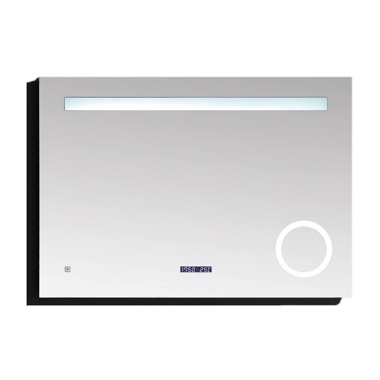 Badkamerspiegel Best Design Linet LED Verlichting 80x70 cm met Klok en Vergroting ADW Design